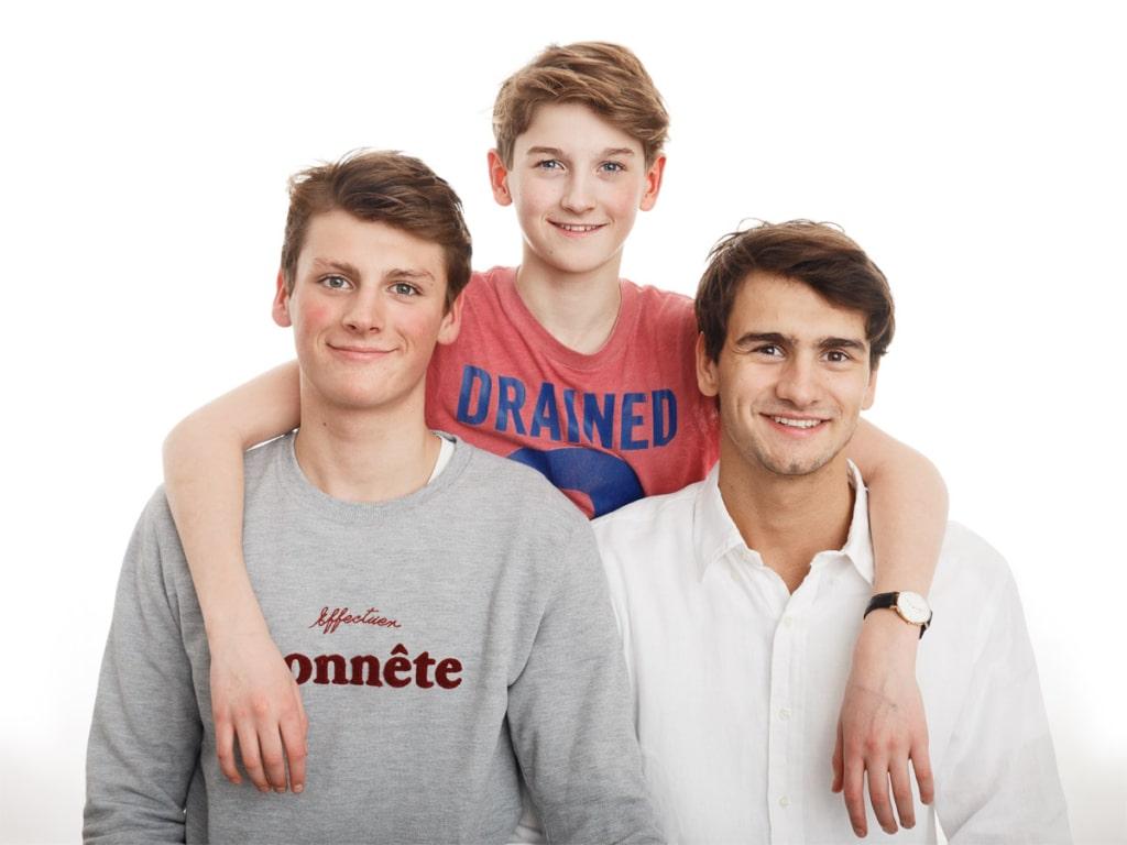 Portræt af brødre